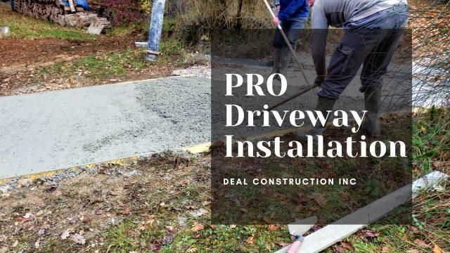 driveway shapes deal construction inc