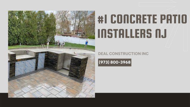 concrete patio installers nj deal construction inc